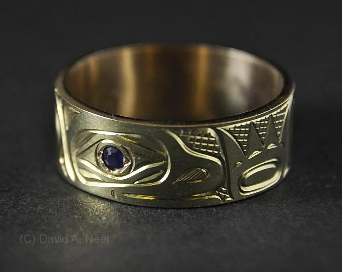 Otter Gold & Sapphire Ring