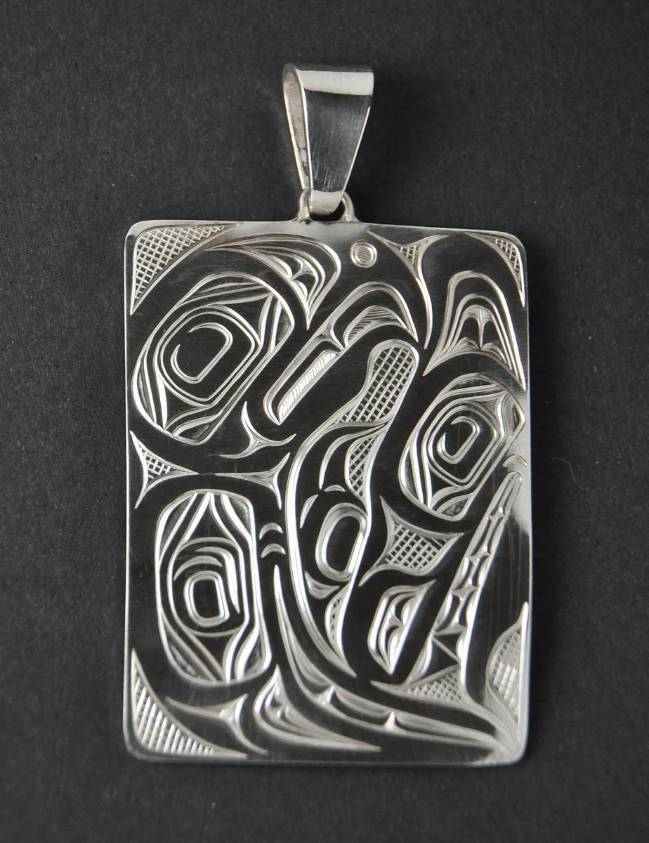 Wolf and Eagle Silver Pendant