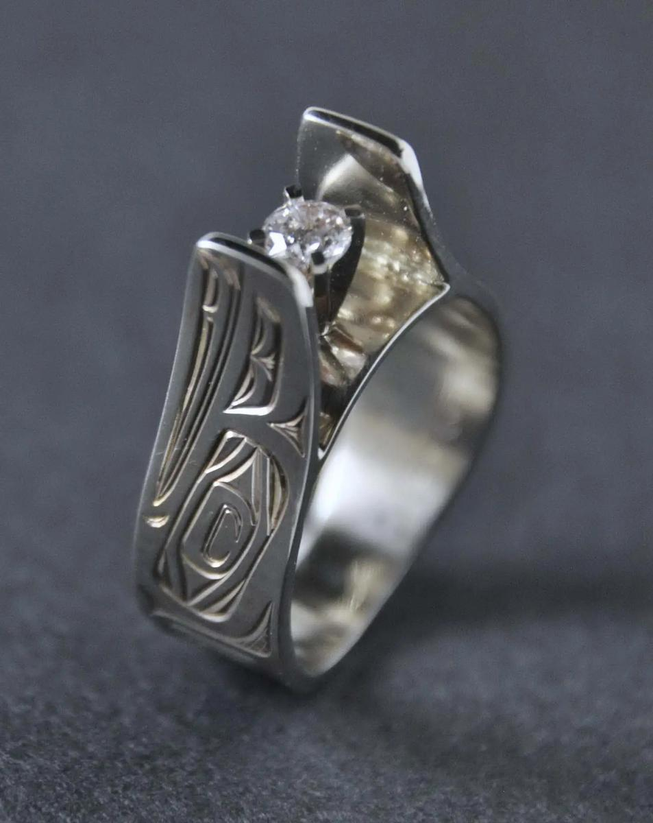 Raven 14K White Gold & Diamond Ring