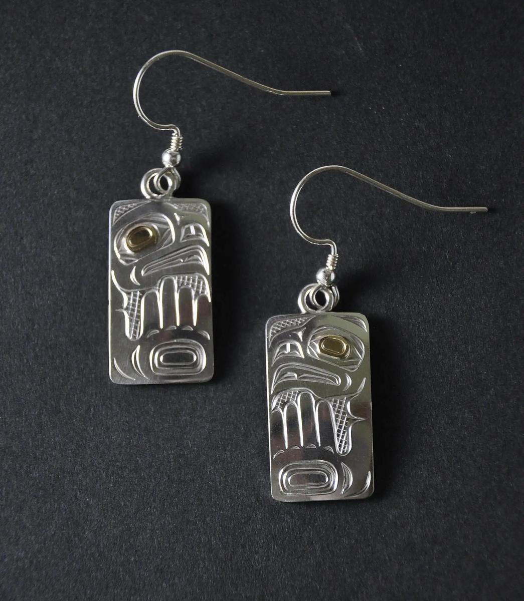 Thunderbird Silver Earrings