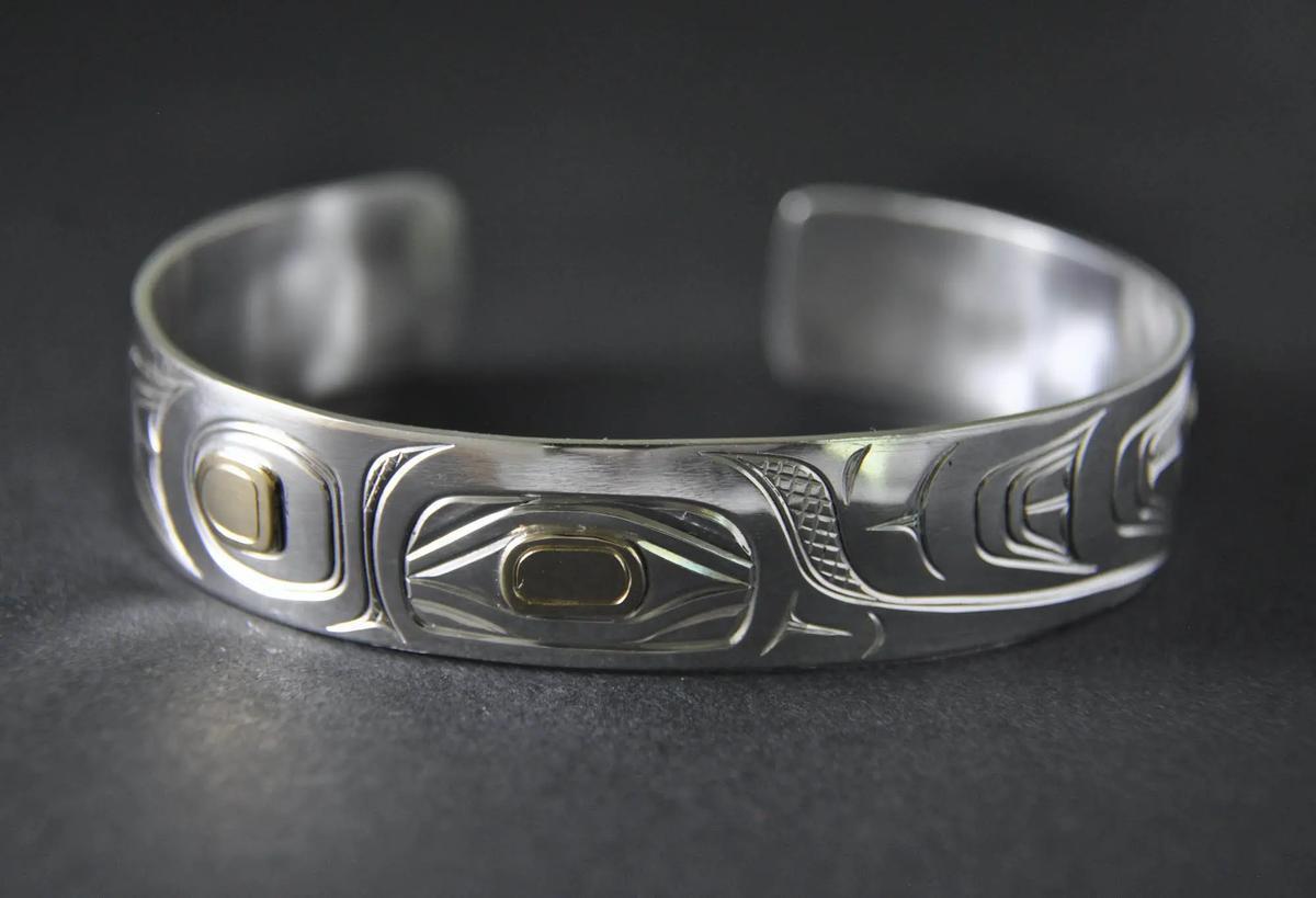 Hummingbird Silver & Gold Bracelet