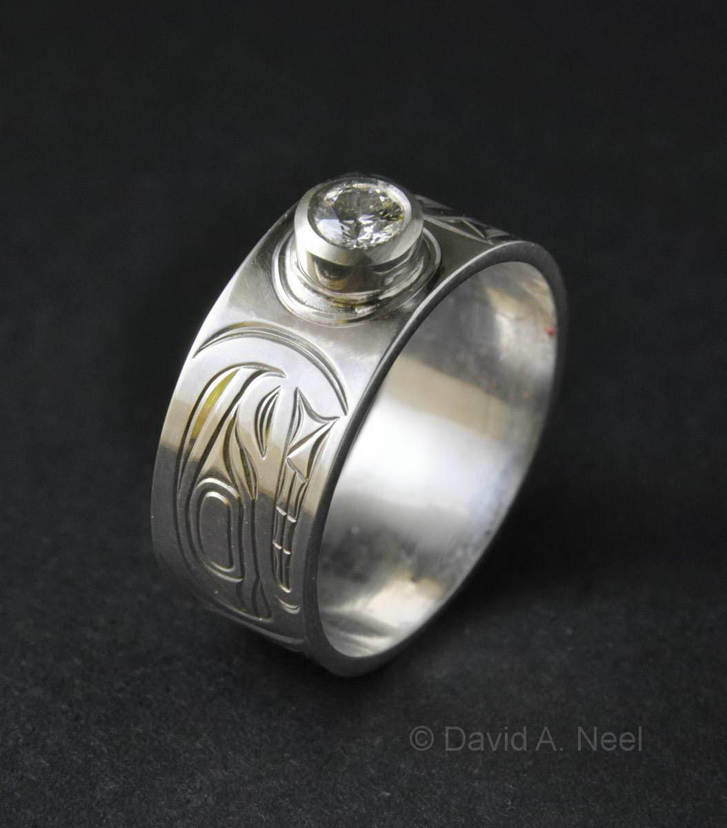Killerwhale Silver Diamond Ring