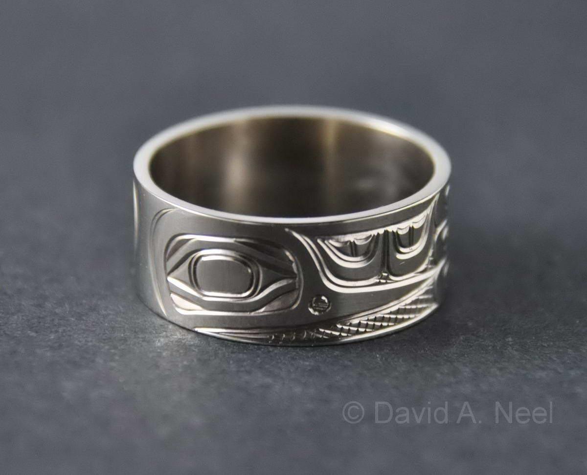 Hummingbird White Gold Ring