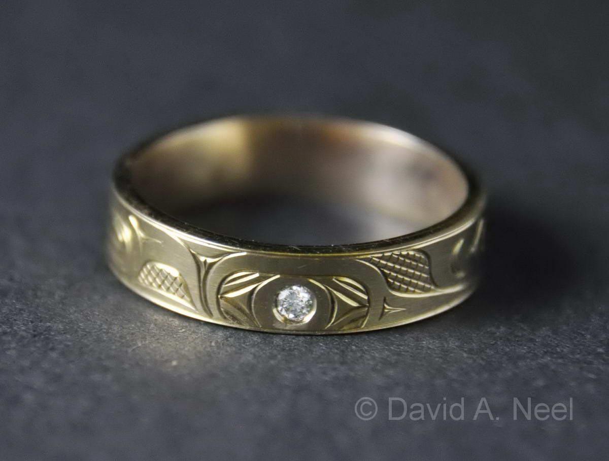 Hummingbird Narrow Gold Ring