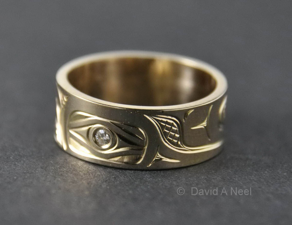 Hummingbird Gold & Diamond Ring