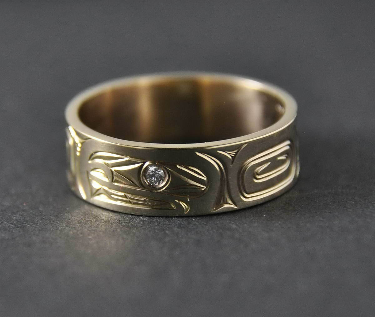 Orca (Killerwhale) Gold Ring