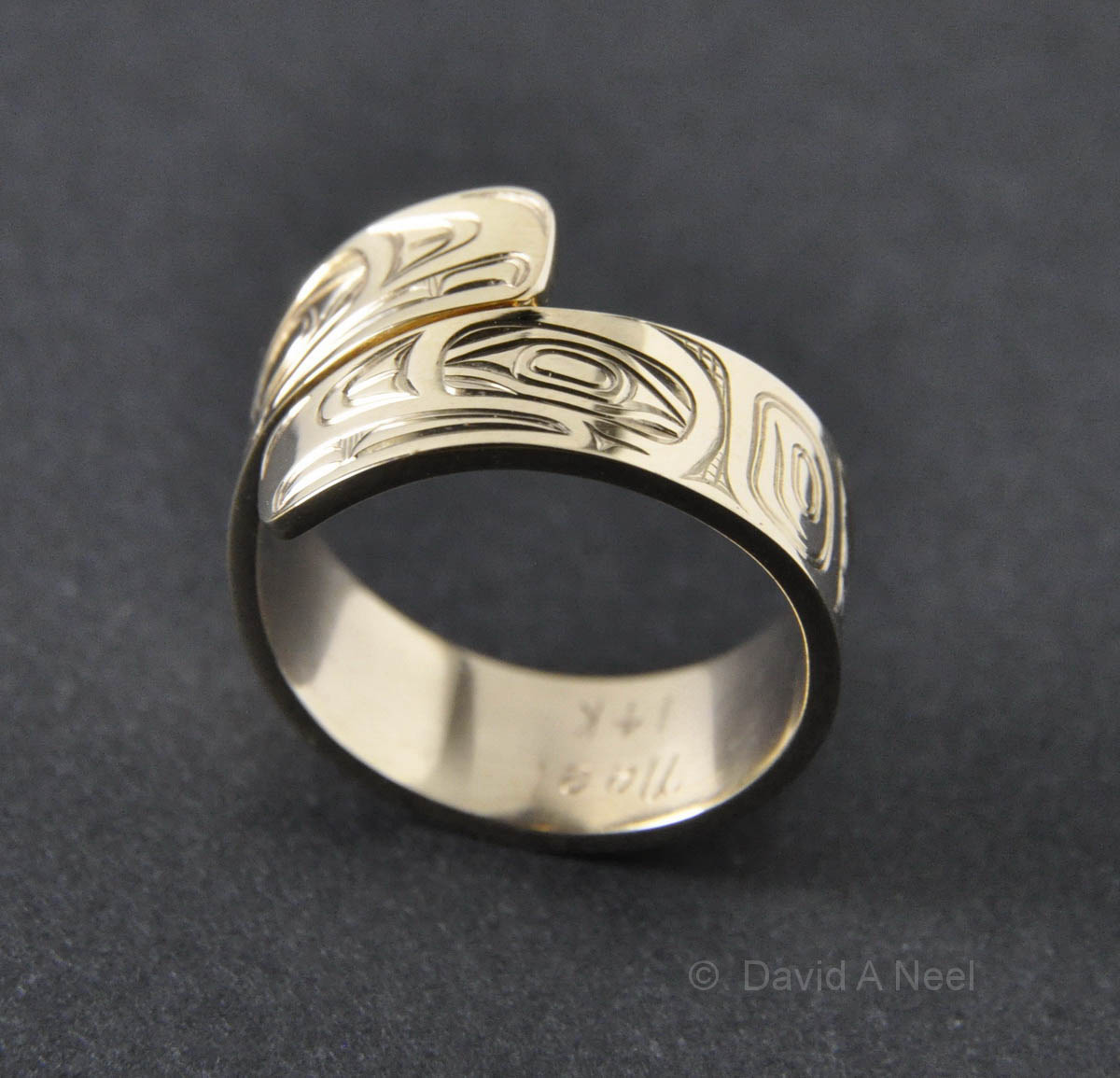 Eagle Gold Wrap Ring