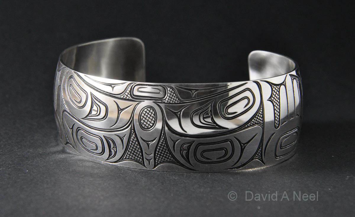 """Dragonfly 1"""" Silver Bracelet"""